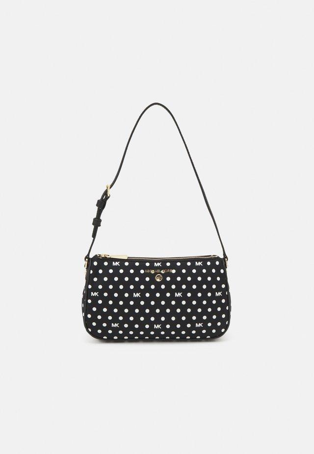 JET SET CHARM POUCHETTE - Handbag - black/optic white