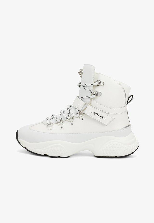 DISCO-TREK RUNNER - Sneakers hoog - white