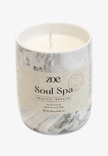 SOUL SPA TROPICAL MORNING - Scented candle - grey