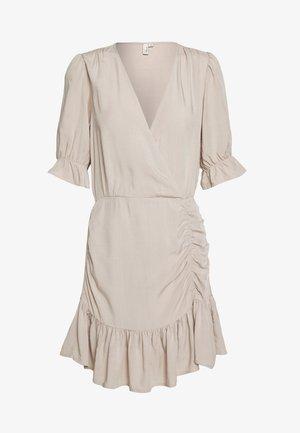 FLIRTY RUCHED DRESS - Day dress - beige