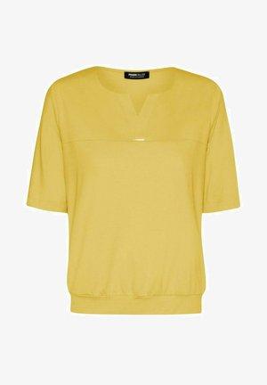 MIT SCHÖNEM STRASS-DETAIL - Blouse - yellow