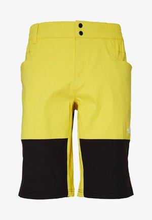 MEN'S CLIMB SHORT - Krótkie spodenki sportowe - bamboo yellow/black