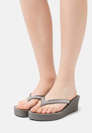 GLAM HI - T-bar sandals - steel