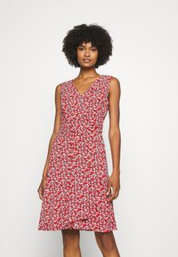 Lauren Ralph Lauren - ELNA SLEEVELESS DAY DRESS - Day dress - lighthouse navy/red/cream - 0