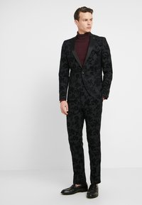 Twisted Tailor - KATRIN SUIT FLORAL FLOCK - Completo - charcoal - 1