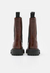 LÄST - ANGIE - Platform boots - brown - 3
