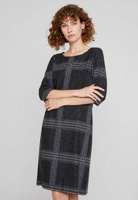 Esprit - SWEAT DRESS - Gebreide jurk - black - 0