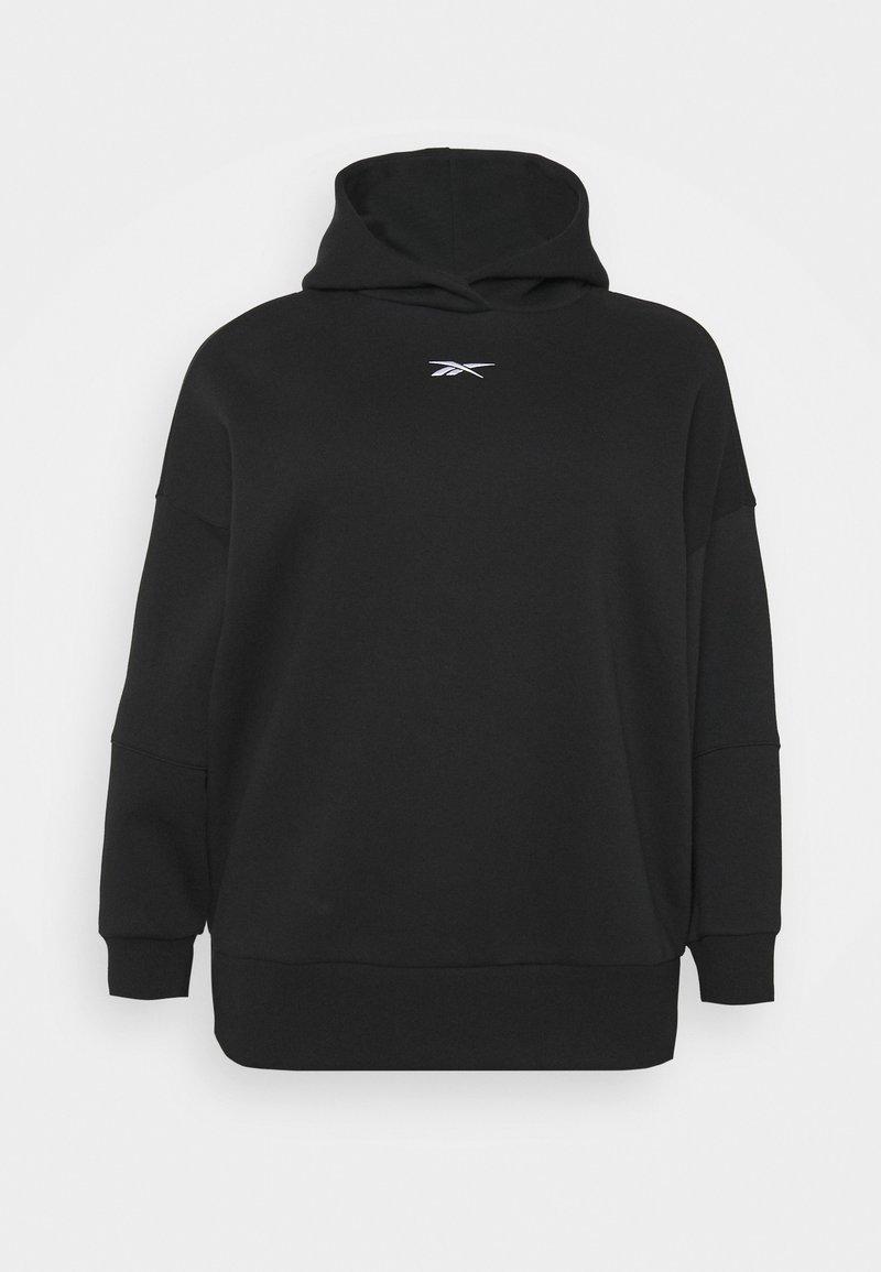 Reebok - OVERSIZE HOODIE - Sweatshirt - black