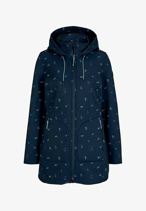 CASUAL  - Soft shell jacket - navy colorful floral design