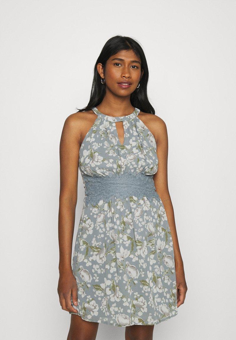 Vila - VIMILINA FLOWER DRESS - Cocktail dress / Party dress - ashley blue/white