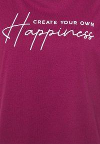 Even&Odd Curvy - Print T-shirt - pink - 2