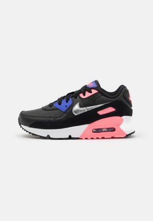 AIR MAX 90  - Sneakers - black/metallic silver/sunset pulse/sapphire