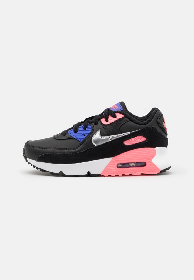 AIR MAX 90  - Sneakers laag - black/metallic silver/sunset pulse/sapphire