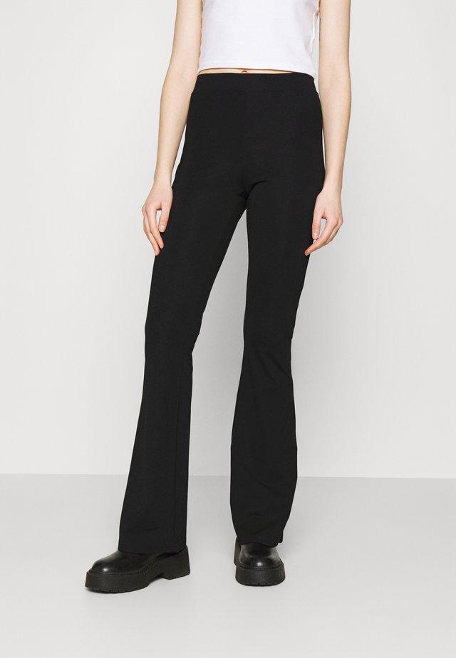 NMBILLIE CLEAN FLARED PANTS - Pantaloni - black