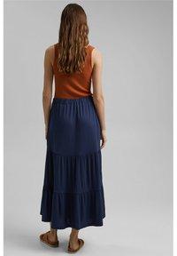 Esprit - A-line skirt - navy - 2