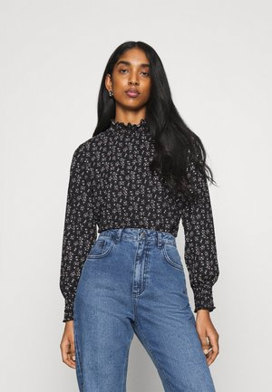 ONLZILLE NAYA SMOCK - Long sleeved top - black/lavender