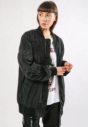 DRAG-CLOUD LONG LINE BOMBER JACKET - Giubbotto Bomber - black
