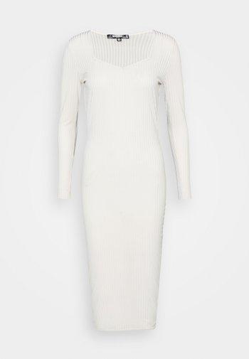 MIDAXI DRESS - Jersey dress - light grey