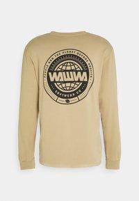 WAWWA - CIRCLE LOGO LONGSLEEVE UNISEX - Maglietta a manica lunga - beige - 1