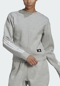 adidas Performance - ADIDAS SPORTSWEAR WRAPPED 3-STRIPES SWEATSHIRT - Sweatshirt - grey - 3