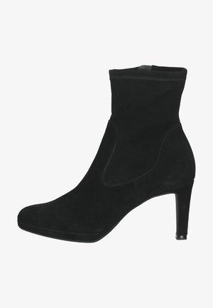 Ankle boot - schwarz suede