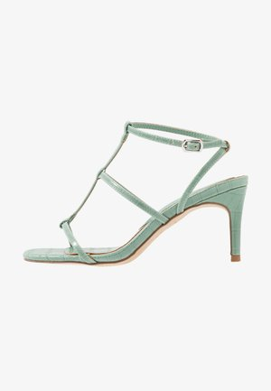 WIDE FIT TUTTING - Sandals - light green