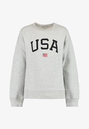 Sweater - mid grey melange