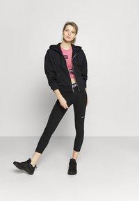 Nike Performance - DRY GET FIT  - Zip-up hoodie - black/white - 1