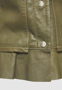 Ibana - NIGELA - Leather jacket - mossgreen - 2