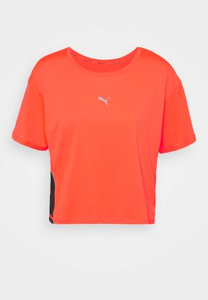 RUN LAUNCH COOLADAPT TEE - T-shirt con stampa - lava blast