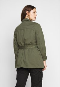 New Look Curves - LOTUS BELTED SHACKET - Summer jacket - khaki - 2