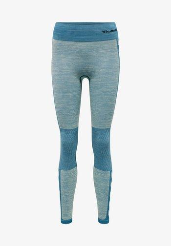 Leggings - blue coral/marshmallow