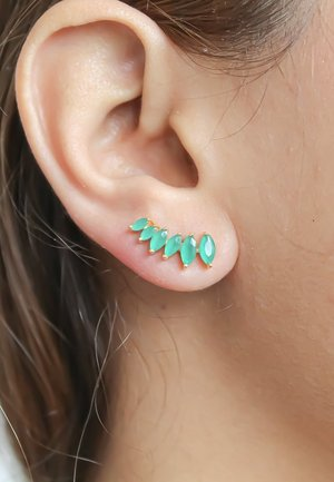 STEPPING STONE CLIMBER - Earrings - green