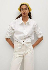 Mango - GABRIELA - Straight leg jeans - ecru - 3
