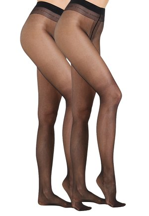 20 DEN EVERYDAY 2 PACK - Tights - black