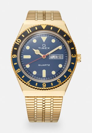 Q DIVER UNISEX - Klocka - gold-coloured/blue