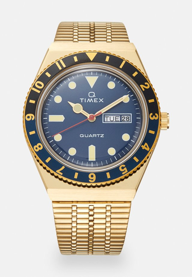 Q DIVER UNISEX - Horloge - gold-coloured/blue