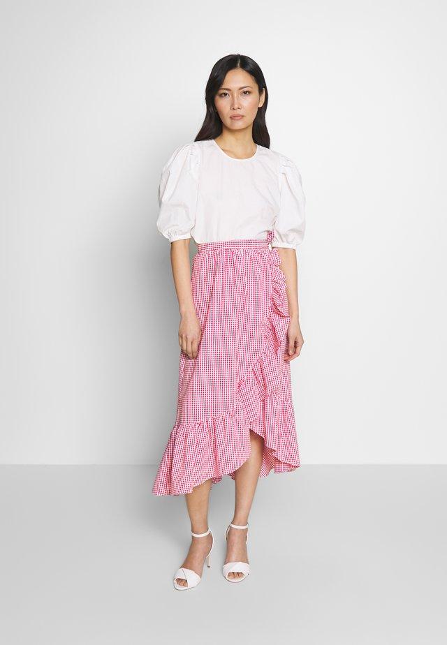 A-snit nederdel/ A-formede nederdele - ecru/lipstick