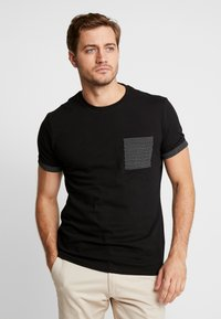 Pier One - Print T-shirt - black - 0