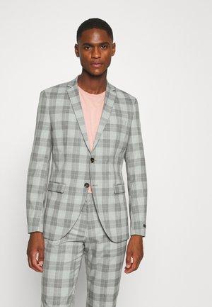 JPRCANE CHECK  - Blazer jacket - light grey melange