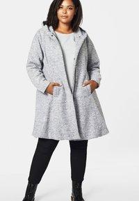 Zizzi - Classic coat - light grey - 0