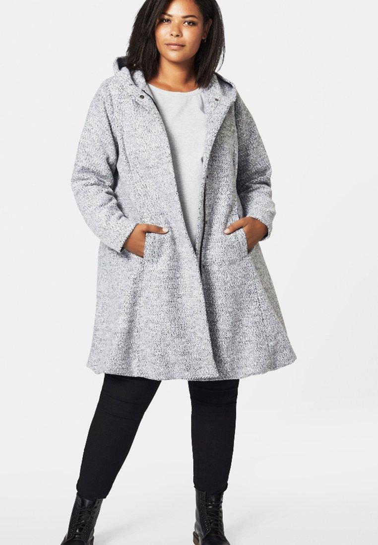 Zizzi - Classic coat - light grey