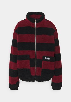 STRIPED JACKET  - Summer jacket - red/black