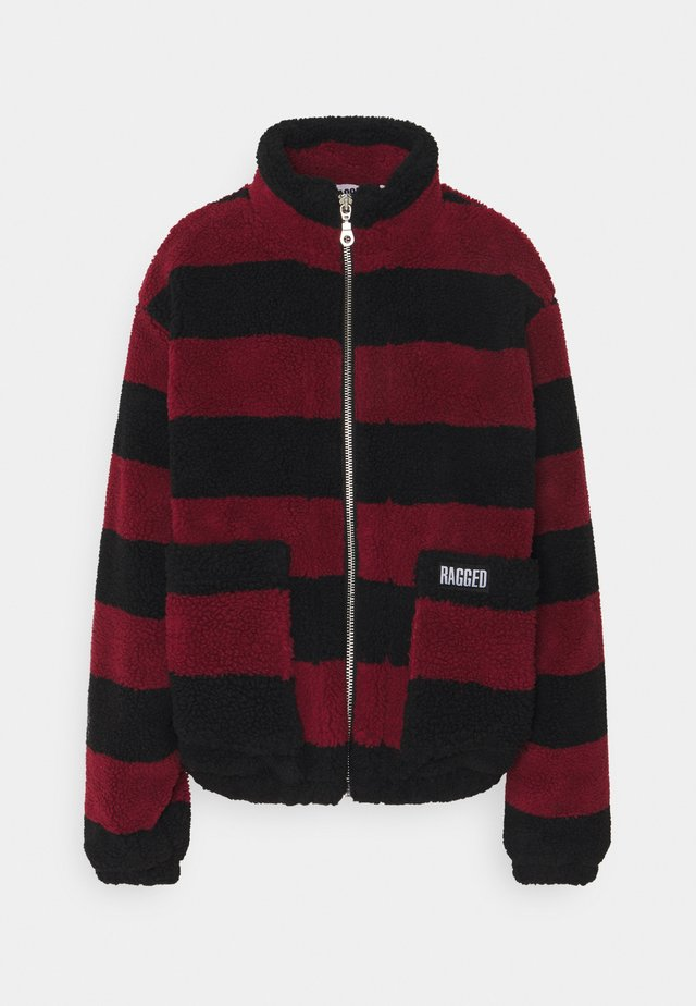 STRIPED JACKET  - Leichte Jacke - red/black