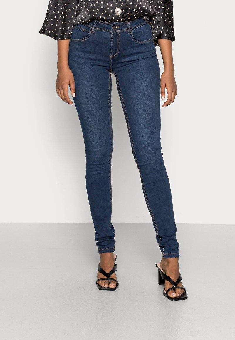 Noisy May - NMJEN SHAPER - Skinny džíny - dark blue denim