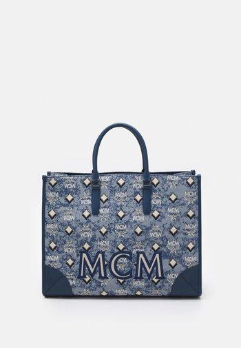 VINTAGE TOTE LARGE SET UNISEX - Handbag - blue