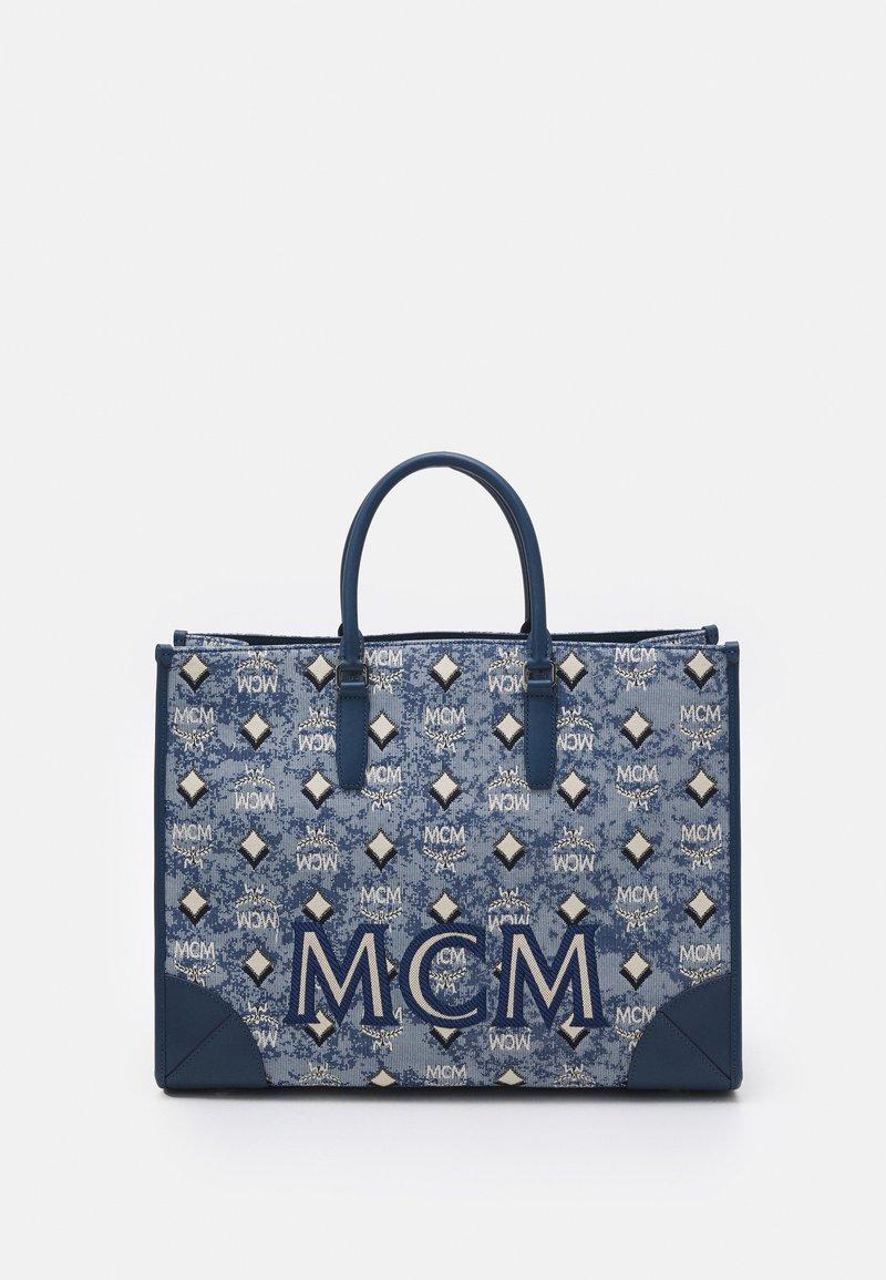 MCM - VINTAGE TOTE LARGE SET UNISEX - Handbag - blue