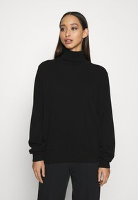 ALIGNE - ANNALISE - CASHMERE ROLL NECK - Jumper - black - 0