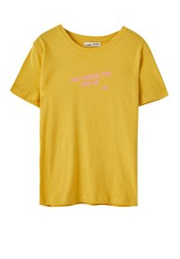 PULL&BEAR - Print T-shirt - yellow - 4