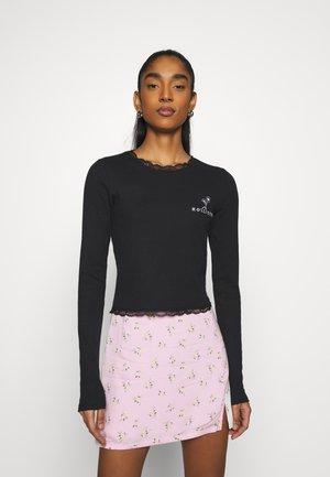 SLIM TREND - Long sleeved top - black